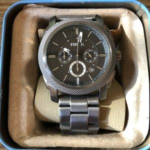 NWT Fossil Watch- Silver link